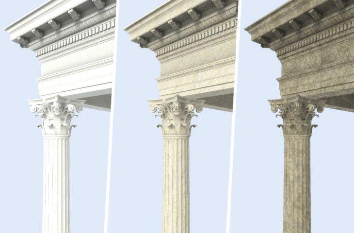 Roman Corinthian Orders Column Package