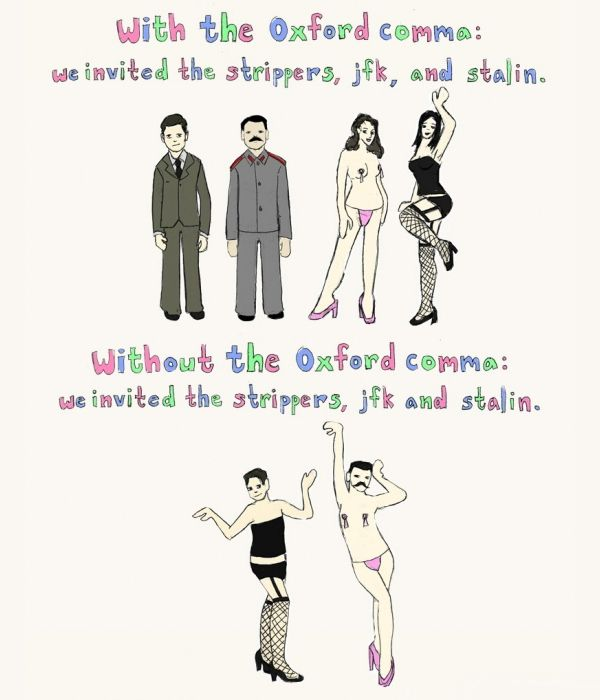 OMG. I love this so much. Oxford comma - Use it.