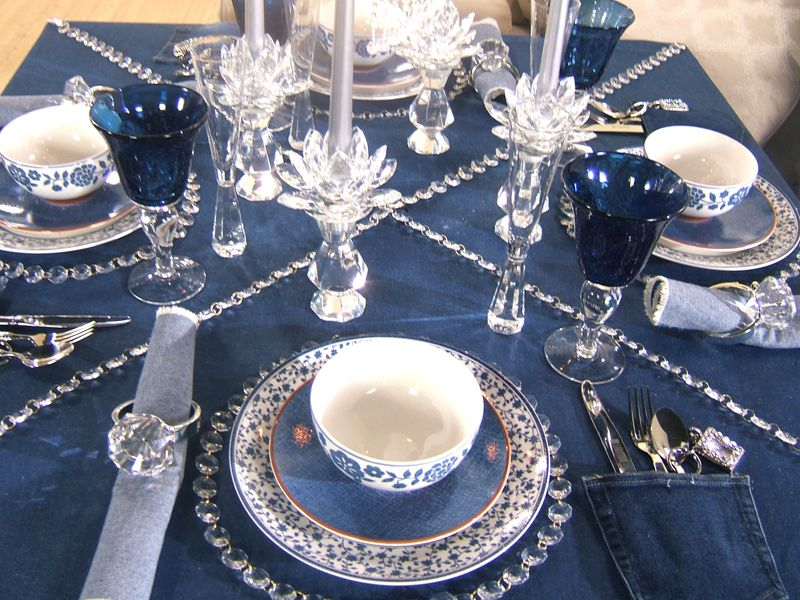 Tv Work Snapshots Denim Diamonds Napkin Tablescapes In 2018