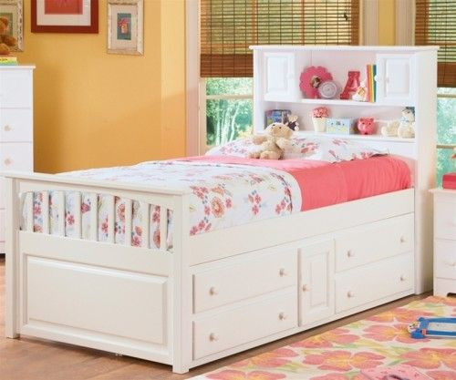 Paxton Bookcase Captains Bed White Bedroom Furniture Beds Twin