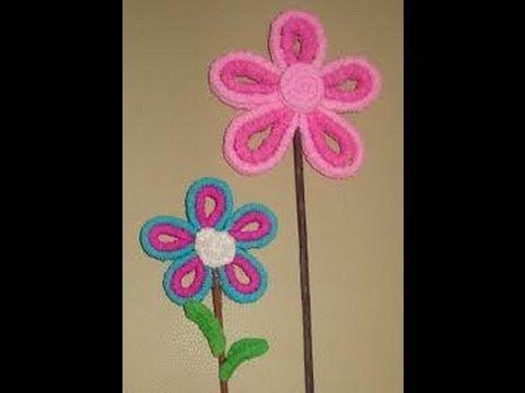 Flores de papel crepe// tÉcnica del gusanito// día de las madres ...