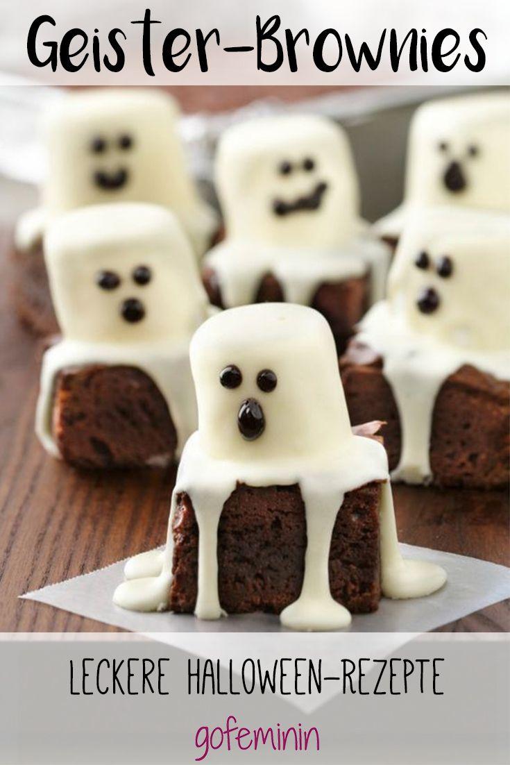 Diese Brownies sind spuktakulär und dürfen an Halloween nicht fehlen!