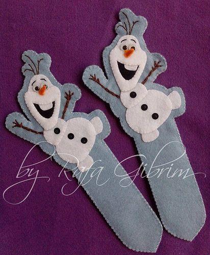 Marca-página do Olaf - Frozen - Uma Aventura Congelante | by Feito a mão [by Rafa]