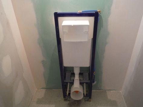 Faire Le Coffrage En Placo D Un Wc Suspendu Wc Suspendu Habillage Wc Suspendu Toilette Suspendu