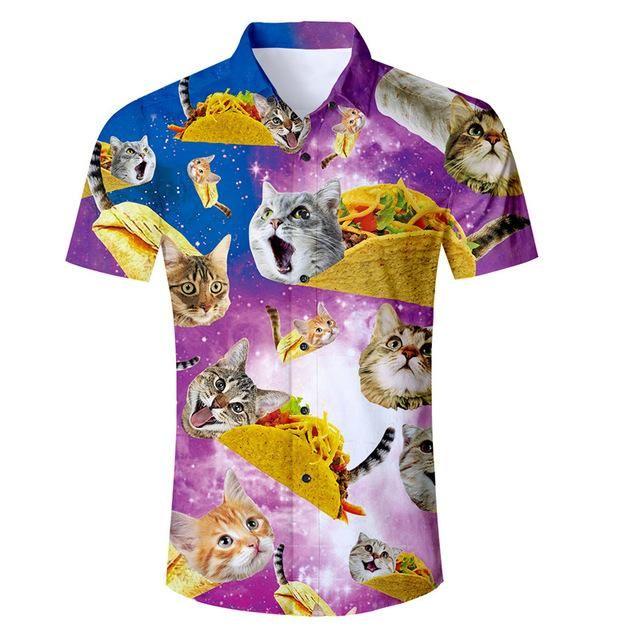 4d102ed384e 3D Printed Cats   Tacos Galaxy Shirt