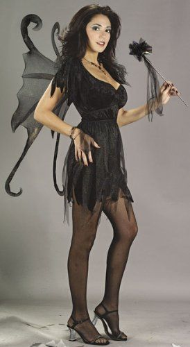 Midnight Fairy Adult Costume Size Medium/Large (10-14) Halloween