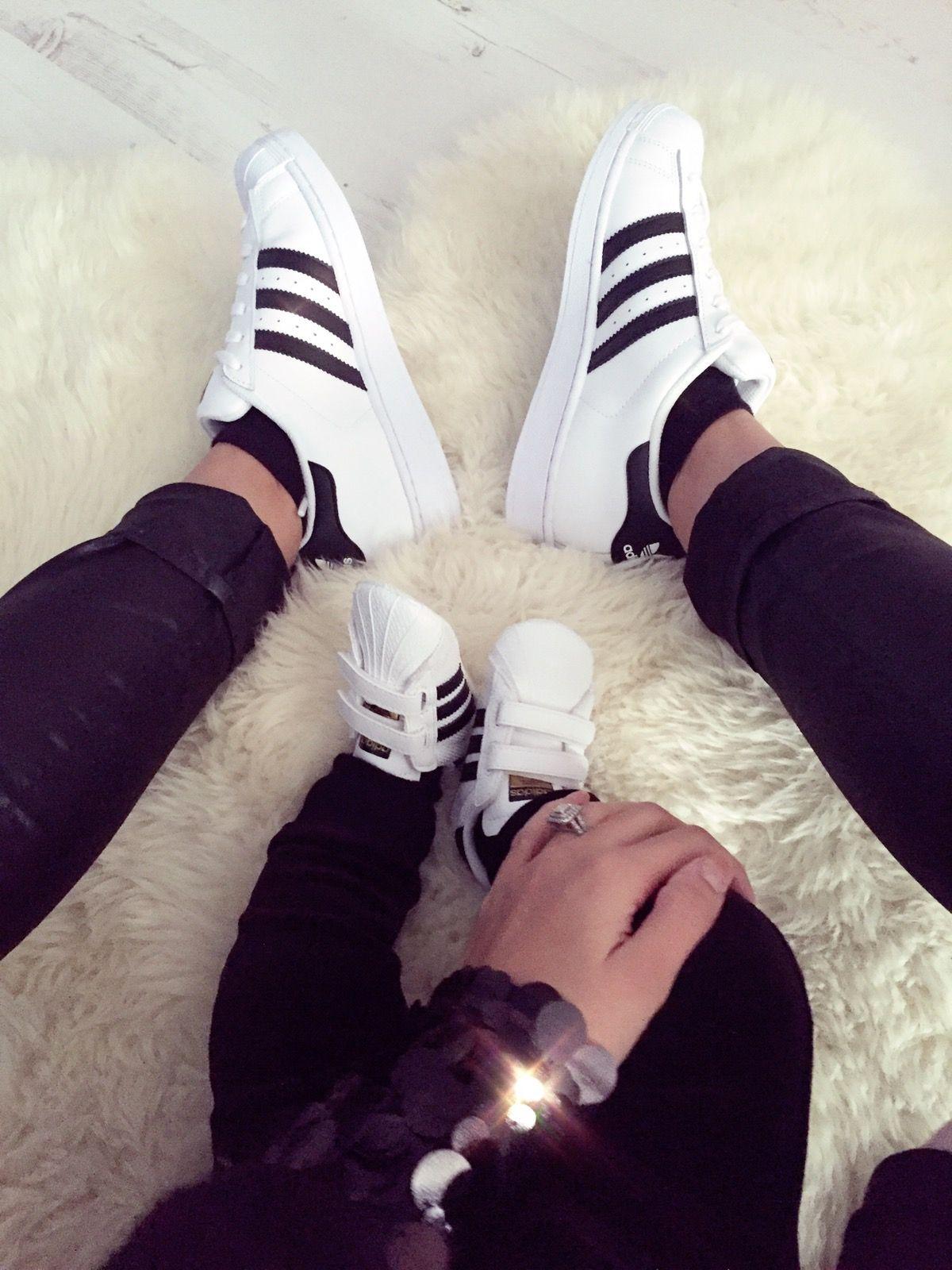 Mum son Partnerlook Adidas Baby Superstar matching | Adidas