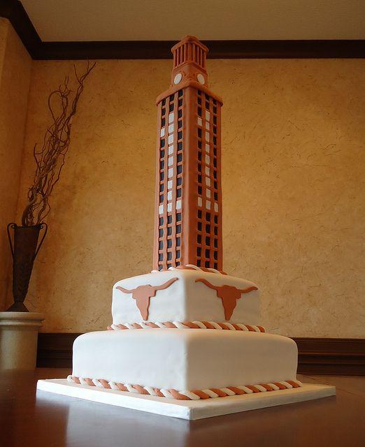 f2b97e24b1541 UT Tower Cake by Dessert Gallery Houston Derek s favorite but only one  bottom layer