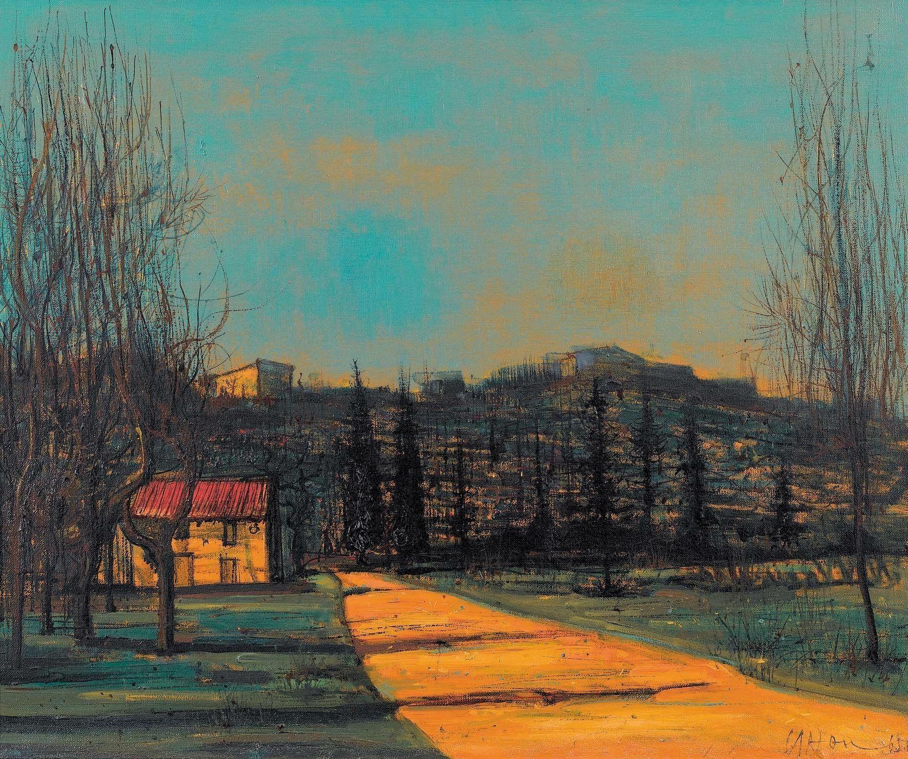 Paysage 2000 destiné jean carzou (karnik zouloumian, 1907 -2000) paysage meridional, 1965