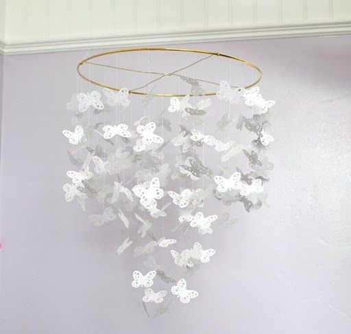 Butterfly chandelier (via Tip Junkie)