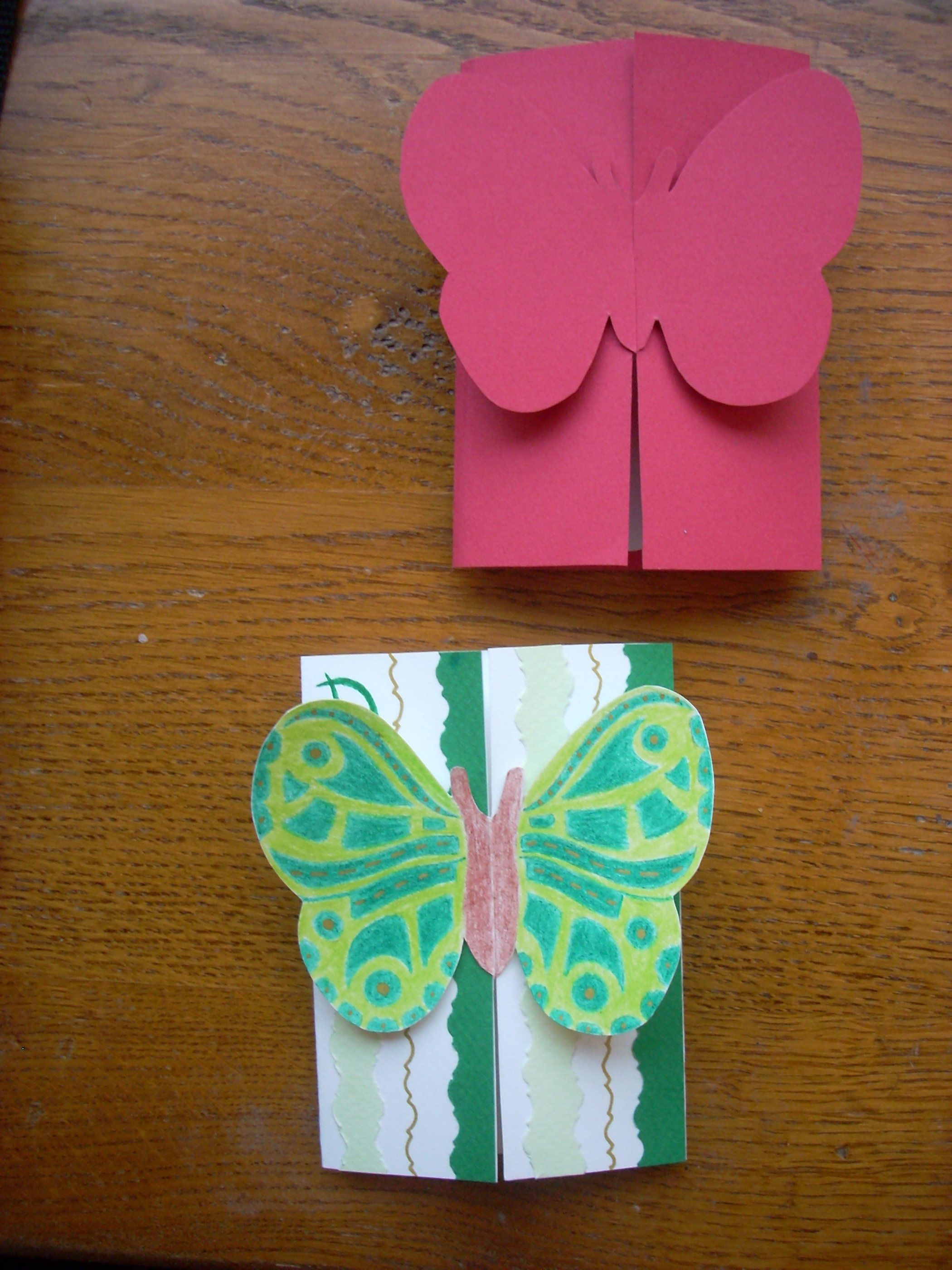 Открытка бабочка из бумаги