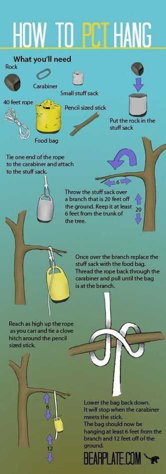 Photo of How to hang a bear bag – PCT method