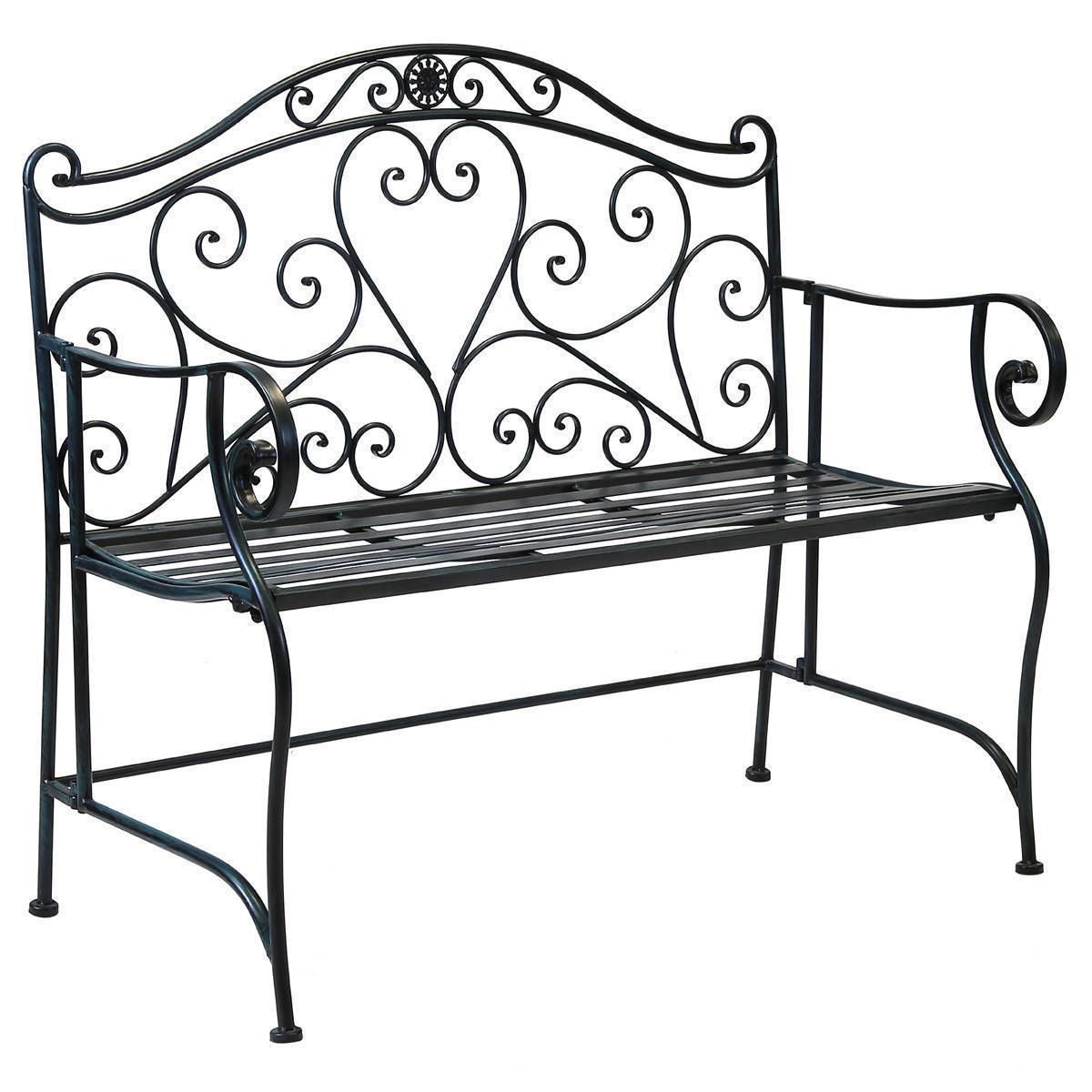 Wrought Iron Benches A Note Of Luxury In Landscape Symphony
