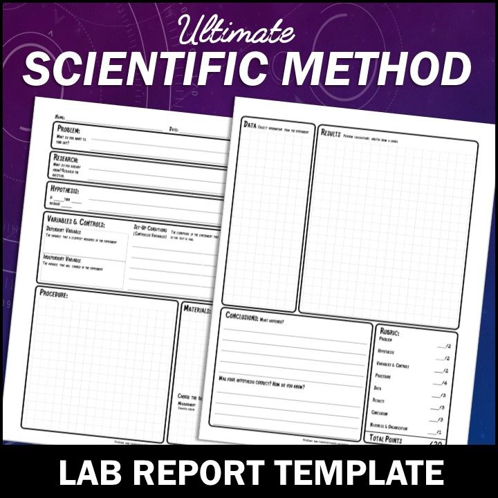 science lab report template for middle school