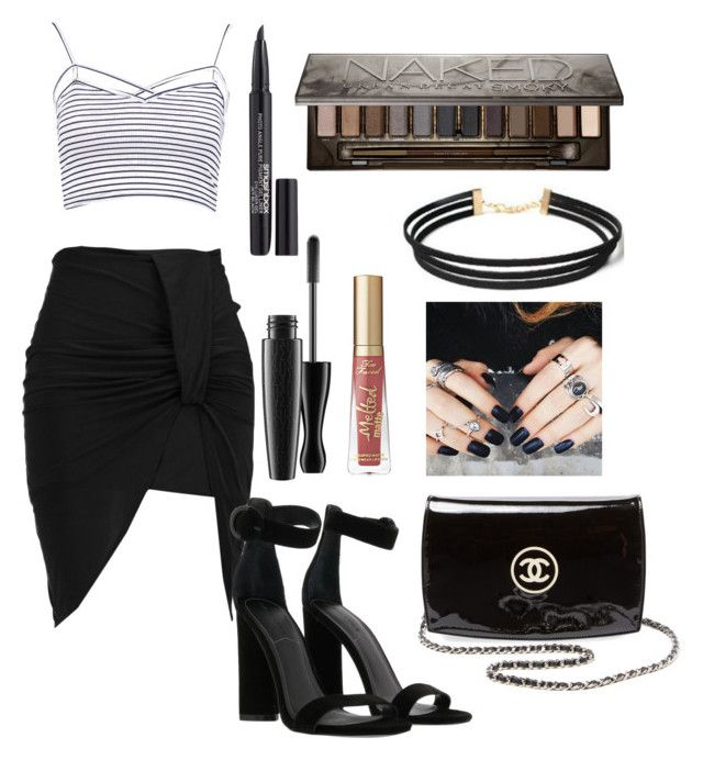 """""""Untitled #704"""" by natalia-tommo ❤ liked on Polyvore featuring Boohoo, Kendall + Kylie, Urban Decay, Smashbox, Too Faced Cosmetics and Chanel"""