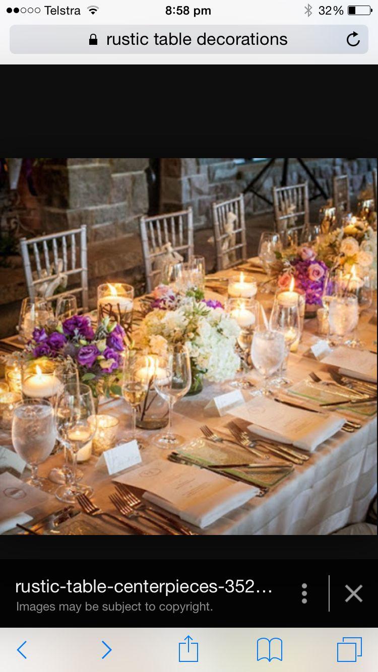 Table decorations wedding lighting colours etc pinterest
