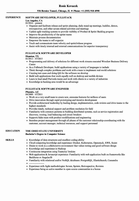Java Full Stack Developer Resume Inspirational Fullstack Resume Samples Full Stack Developer Resume Examples Job Resume Samples