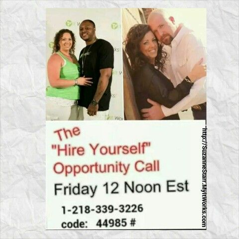 Do you #HateYourJob?  Want to know how to #HireYourself?   Listen to this call at Noon today to find out how 2 awesome couples rock it with It Works Global and you too can #FireYourBoss!  Call 1-218-339-3226, call ID 44985#. Call me after to join us, Suzanne 732-207-6819, Starr_sz@yahoo.com Http://SuzanneStarr.MyItWorks.com #ItWorksGlobal #wraps #itworks #itworksincome #debtfree #BetterTogether #Teamwork #InvestInYourself