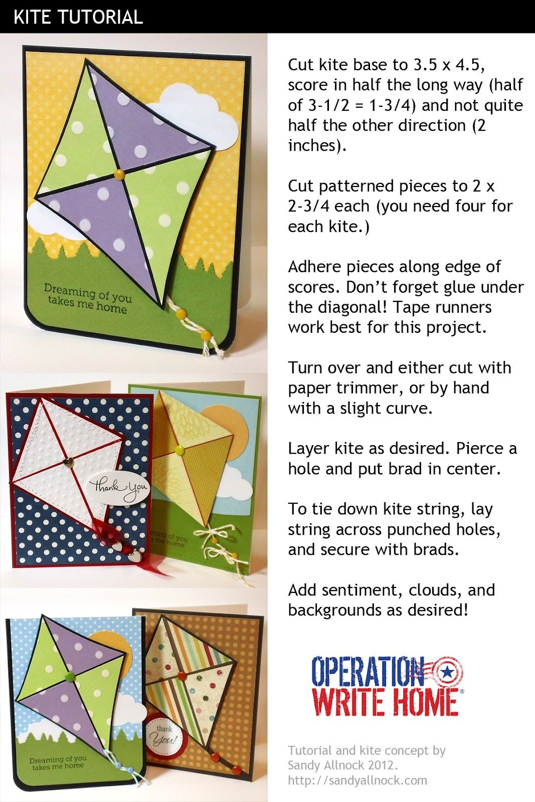 how to make a kite using paper