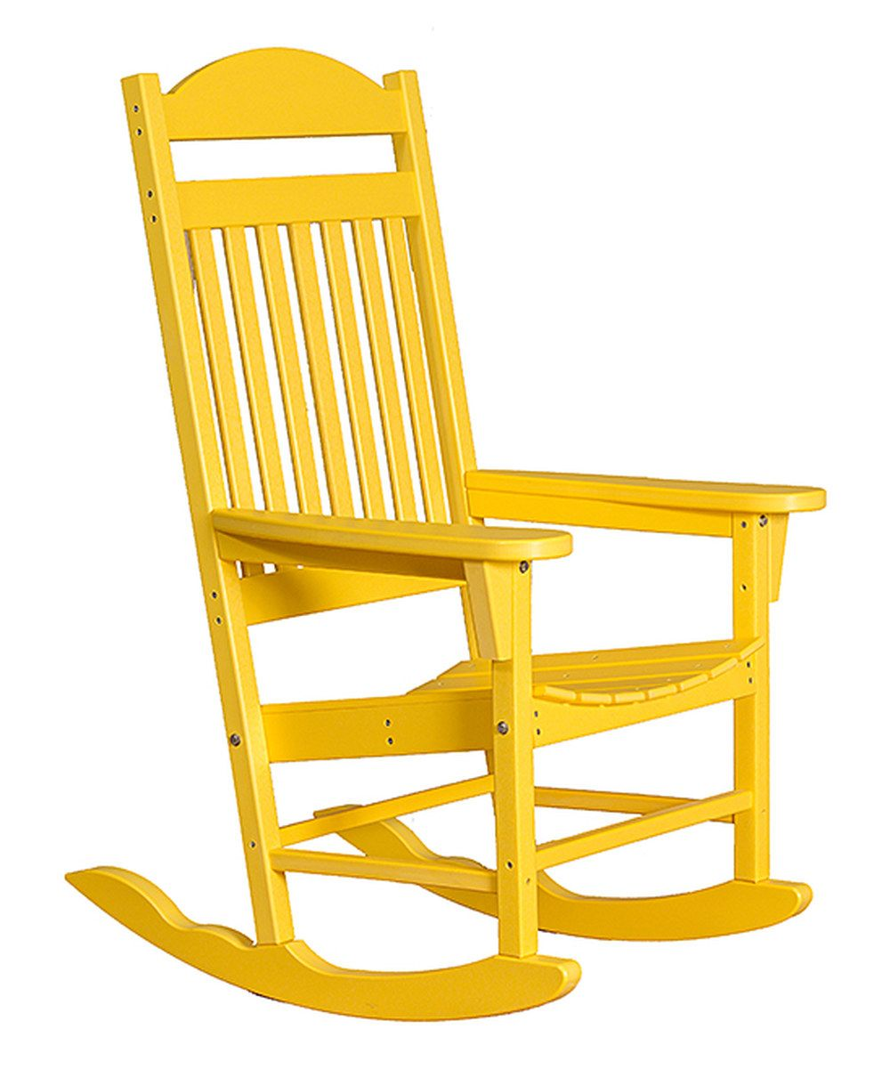 Look At This Lemon Yellow Traditional Rocking Chair On Zulily Today