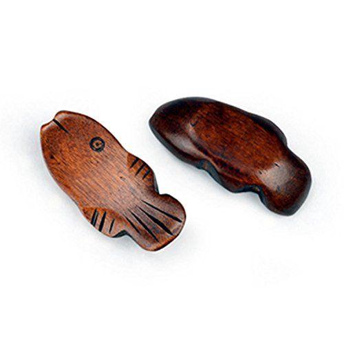 Set mit 4 Holz Essstäbchenablage Löffel Gabel Geschirr Halter - Fisch-Muster - http://besteckkaufen.com/blancho/set-mit-4-holz-essstaebchenablage-loeffel-gabel-3
