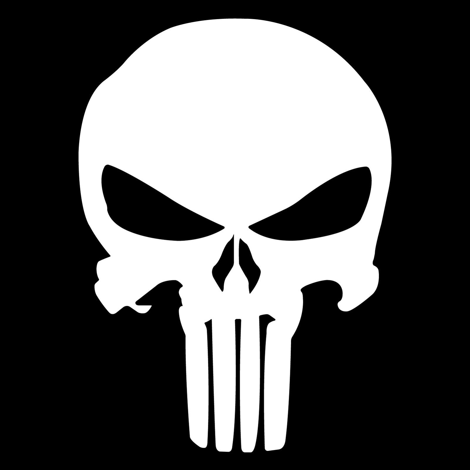 Punisher Sticker Decal Vinyl Car Window Bumper Skull 3 9 X 5 5 Jdm Punisher Marvel Punisher Logo Punisher