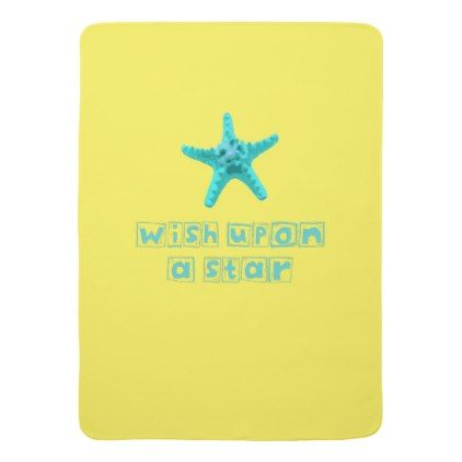 Wish Upon a Star Starfish Baby Blanket | Zazzle.com images