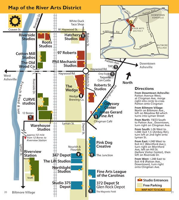 Map of the River Arts District ... a wonderfully artsy ...
