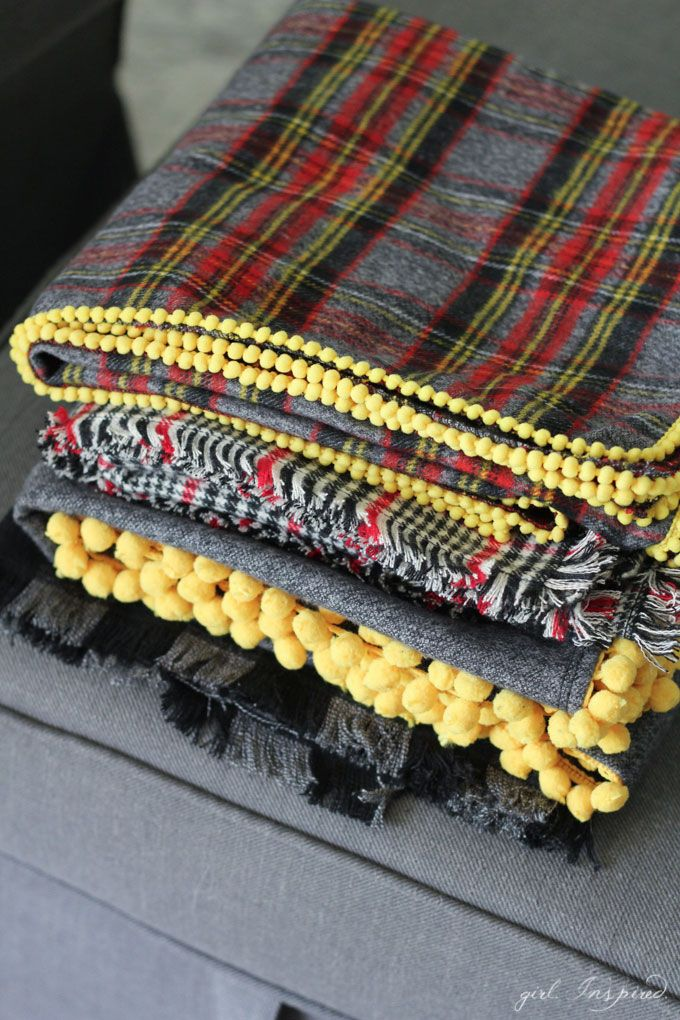 how to make a fringe on a throw