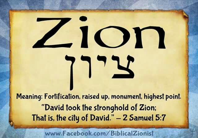 Image result for zion old testament meaning