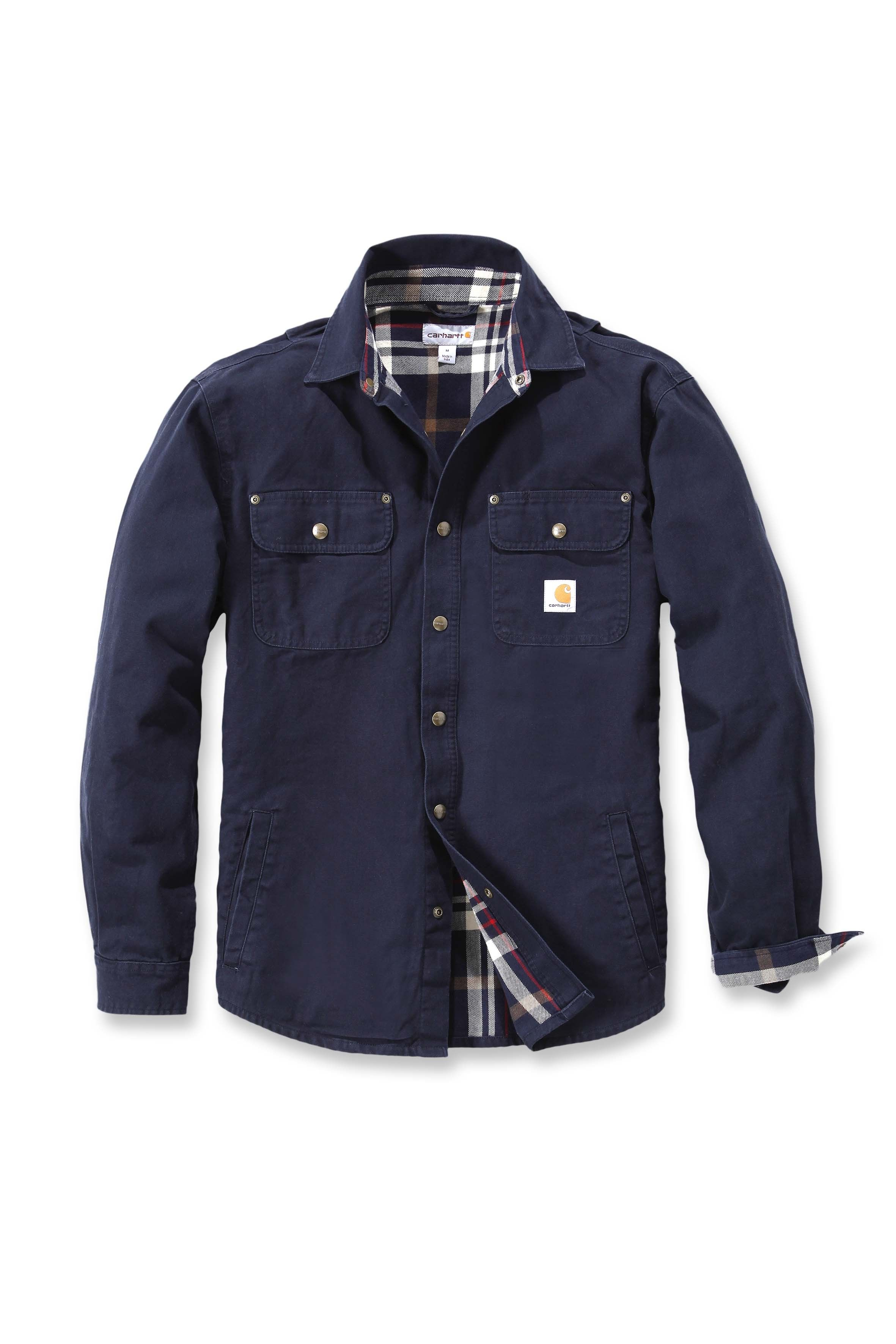 45ff1e1386 Carhartt Weathered Canvas Shirt Jacket Navy