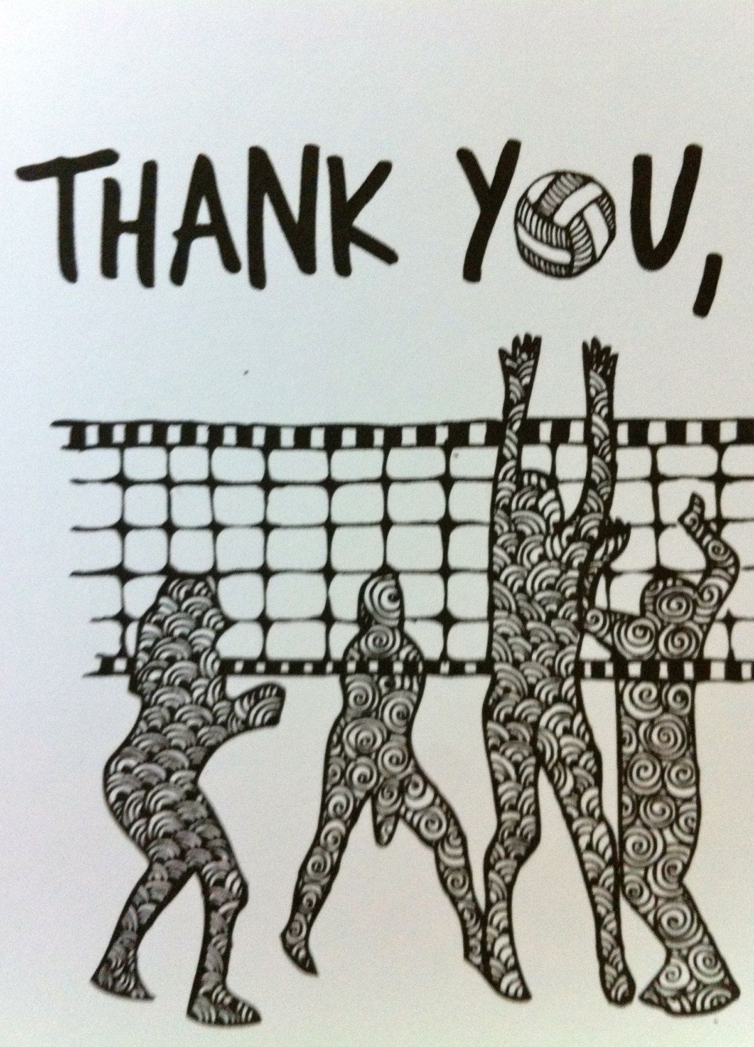 Volleyball Team Thank You Coach Card Hand Made By Bahiasurdesign How To Draw Hands Inspirational Cards Inspirational Scripture