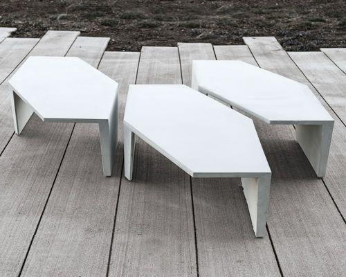 Table basse / contemporaine / en acier / modulable STRATA by Jess ...