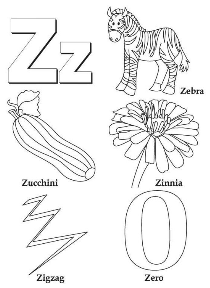 My A To Z Coloring Book Book Letters Letter Z Crafts Alphabet
