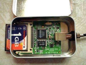 Make An Altoids Tin Diy Compactflash Card Reader Altoids Tins Diy Diy Gadgets