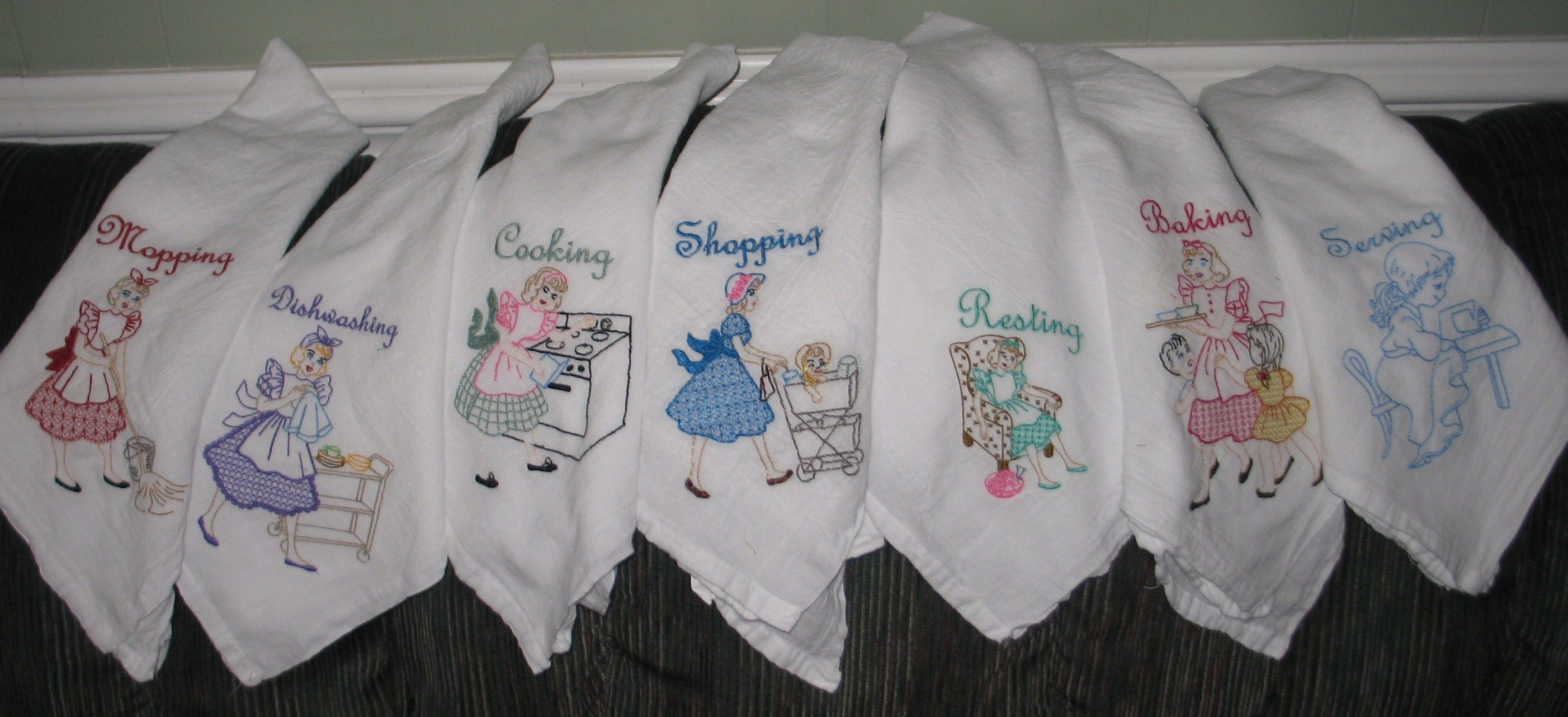 Embroidery Patterns For Kitchen Towels To Be Hand Embroidered Dish