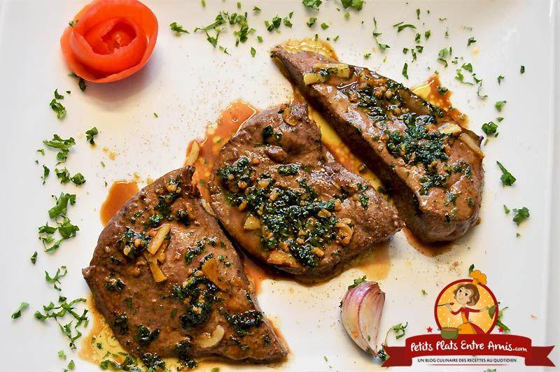 Foie de veau à l'ail et au persil (avec images) | Foie de ...