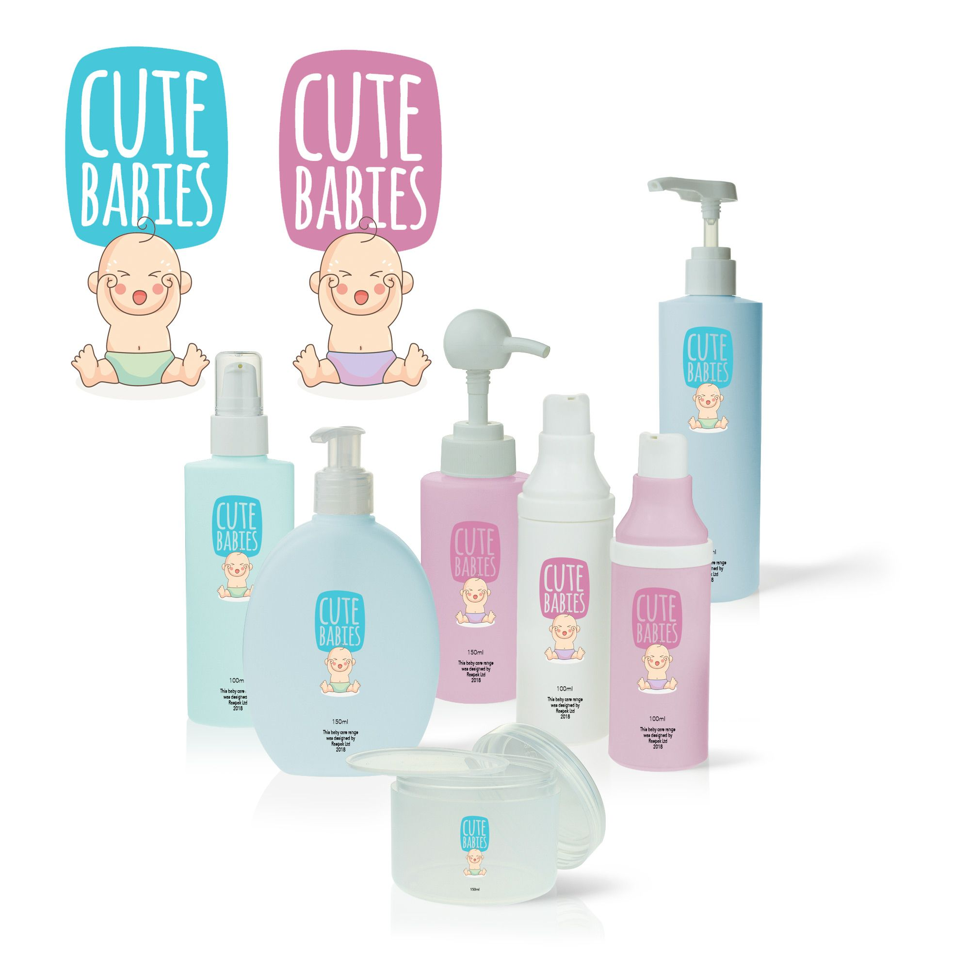 Baby Skincare Packaging Design finished brand idea baby