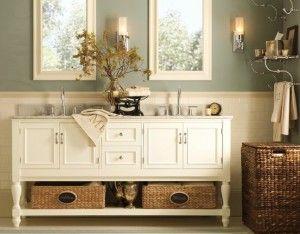 Superbe Dresser As Vanity Basket White