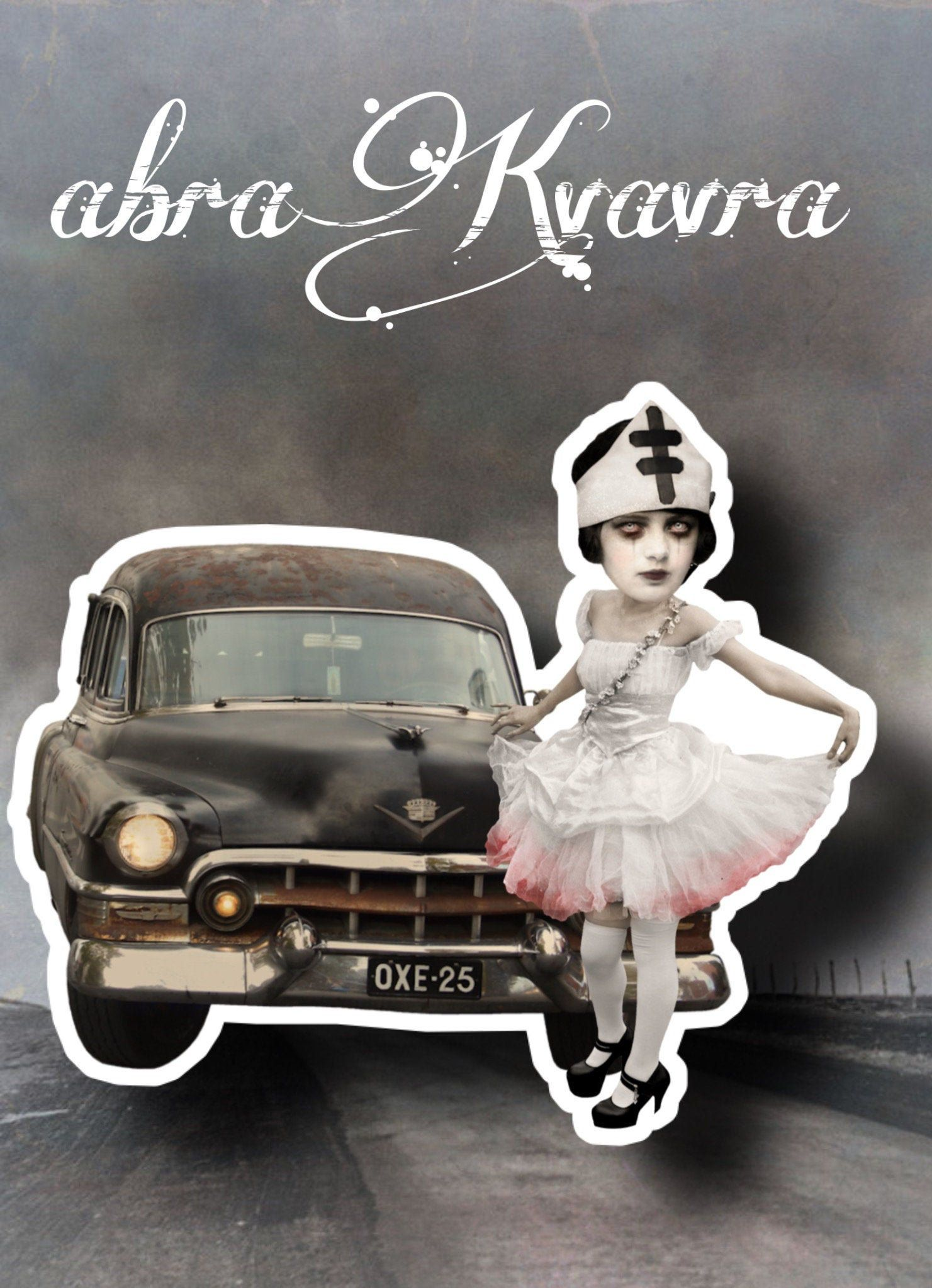 Ghostly Nurse Pinup With Old Car 7 Sticker For Halloween Etsy Sticker Art Glossy Sticker Paper Sticker Paper [ 2048 x 1481 Pixel ]
