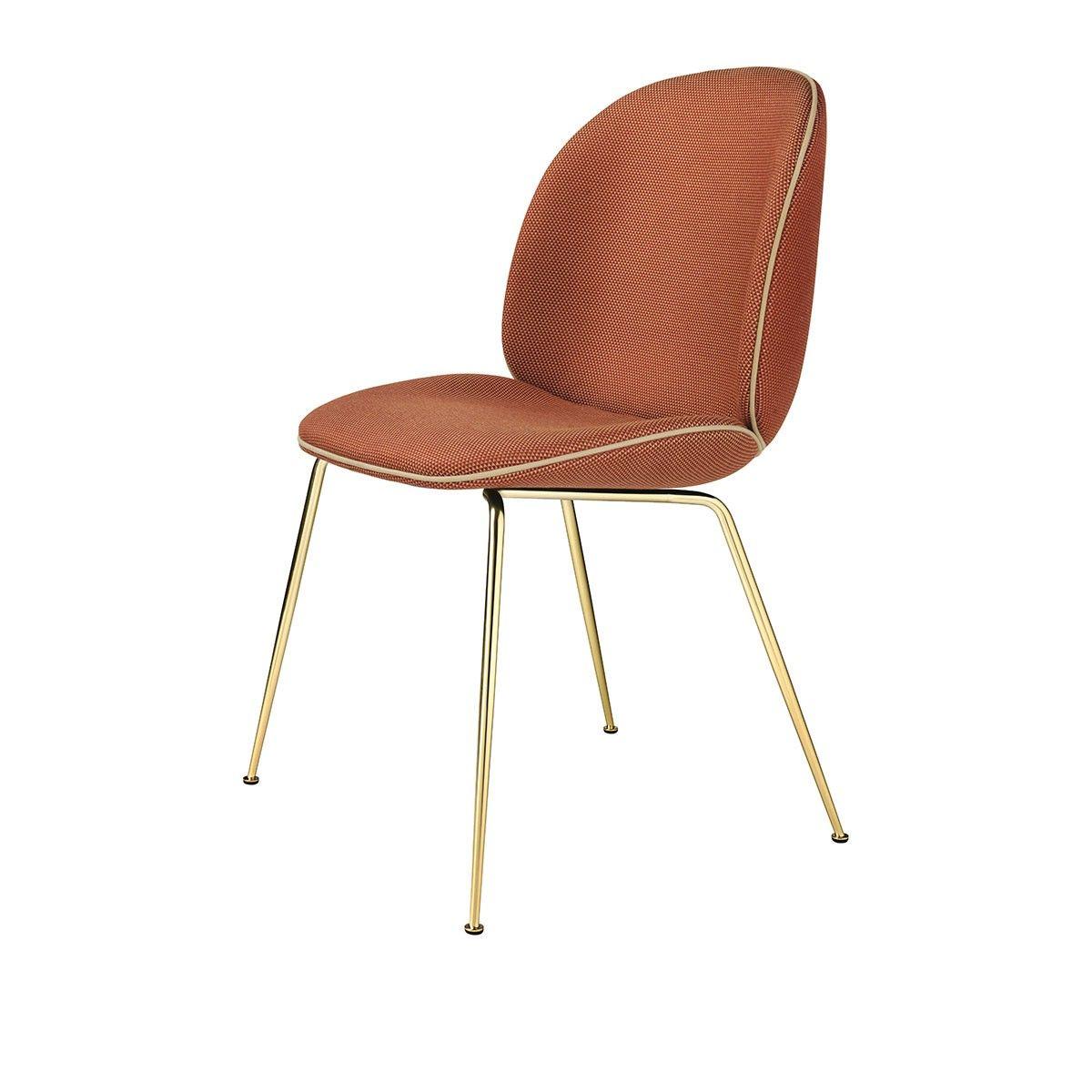 Chaise Beetle Textile Jabana Rouge Pieds Laiton Gubi Gubi Chaise Furniture