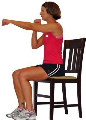gym chest chair travel high with tray you can still workout your upper body from a exercise this seated uses 12 moves to target the muscles in back shoulders and arms as well core all