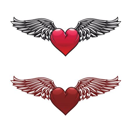 Heart With Wings Tattoo Meaning Barang Untuk Dibeli Tattoos