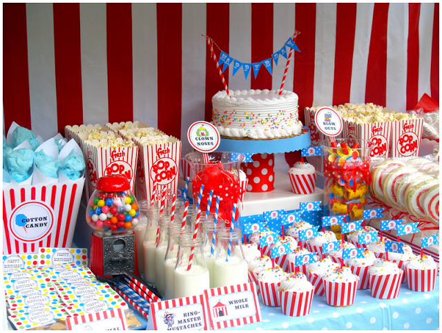 Vintage Circus Birthday Party A to Zebra Celebrations Kids party