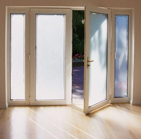 Front door window privacy film installation examples for Window frosting