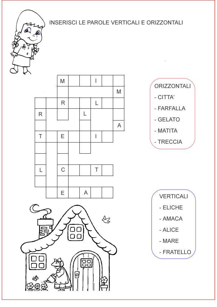 Inserisciparole1 g enigmistica per bambini e ragazzi for Cruciverba per bambini di 8 anni