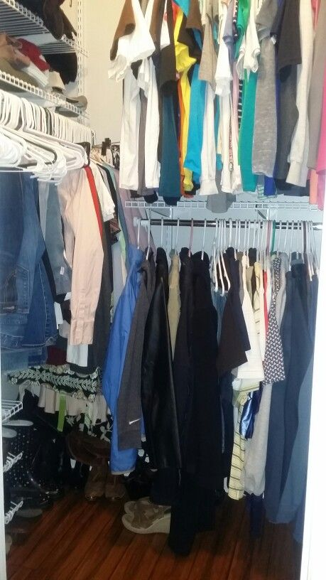 Working on the closet
