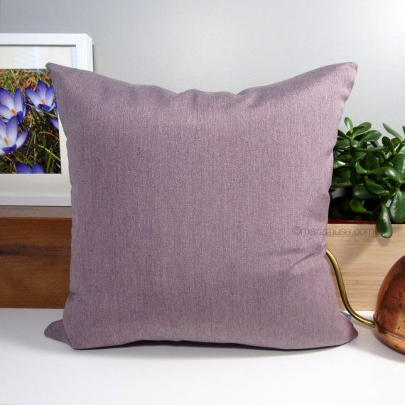 Mauve Outdoor Pillow Cover Decorative Light Purple By Mazizmuse