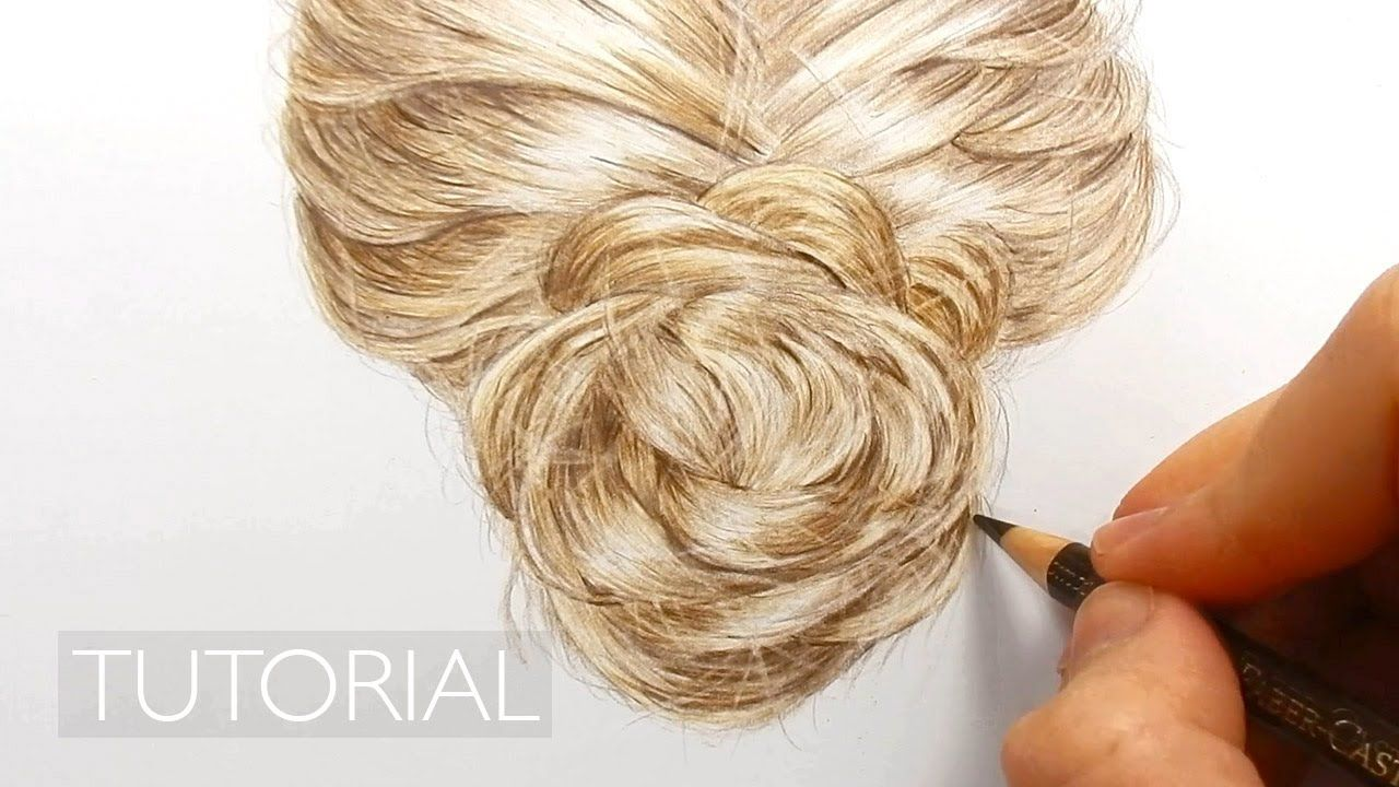 tutorial how to draw realistic hair with colored pencils