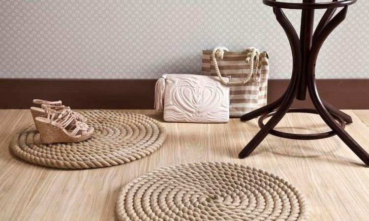Un elegante tappeto di corda fai da te Alfombras de
